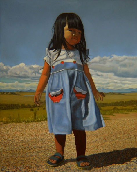Thu Nguyen - On The Divide - landscape - child portrait