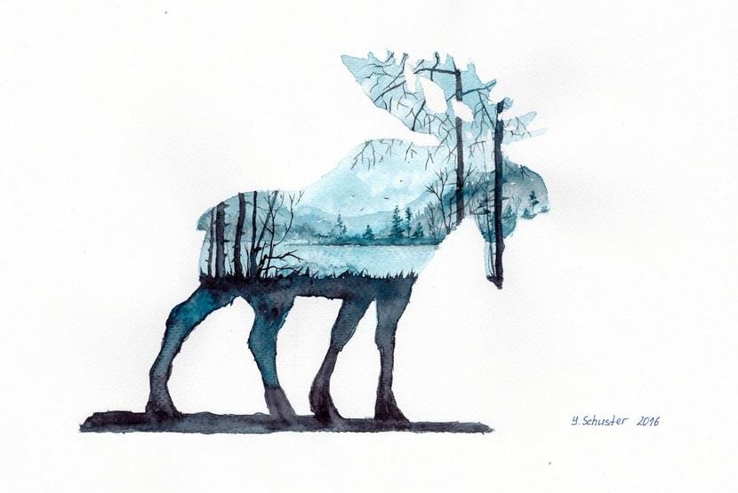 Yulia Schuster - Forest Elk