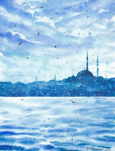 Yulia Schuster - Snow in Istanbul