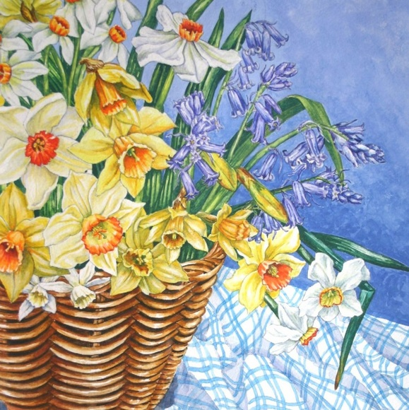 Zoe Elizabeth Norman - Basket of Spring Flowers