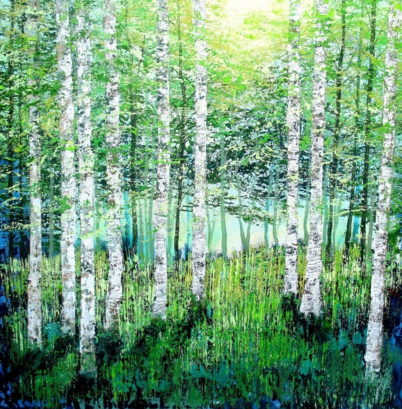 amanda horvath - Sunlight and Shadows, Woodland Glade