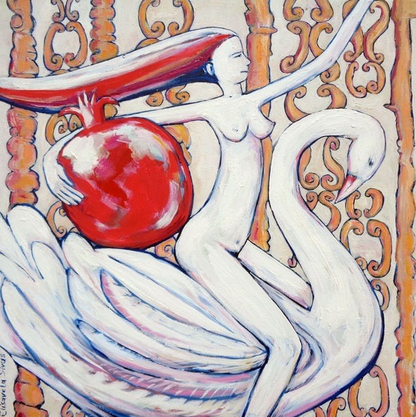 Elisaveta Sivas - WOMAN WITH SWAN