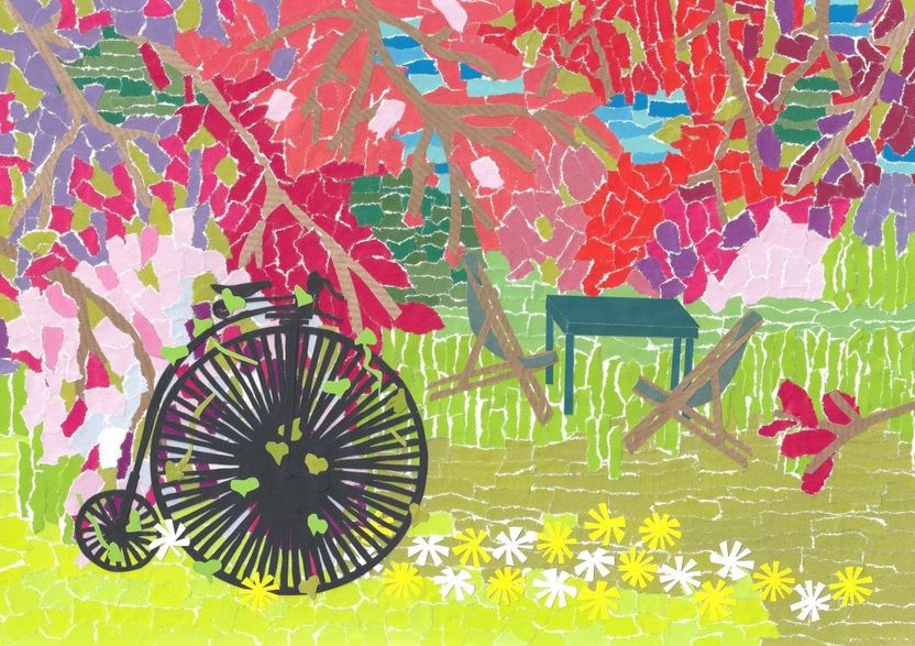Emma Bennett - The Orchard and a Penny Farthing