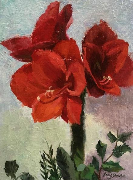 Ling Strube - Red Amaryllis
