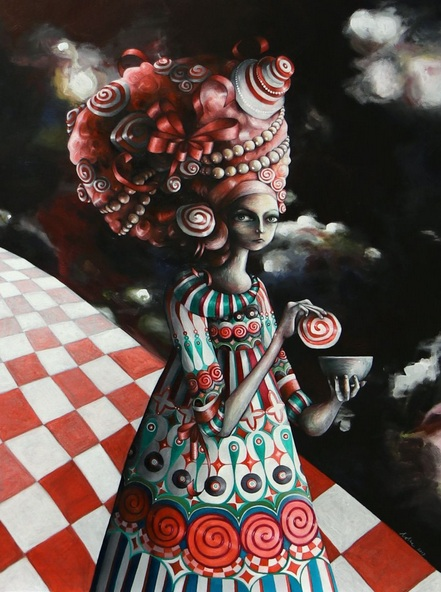 Lotte Teussink - Pop surrealism painting Sugar