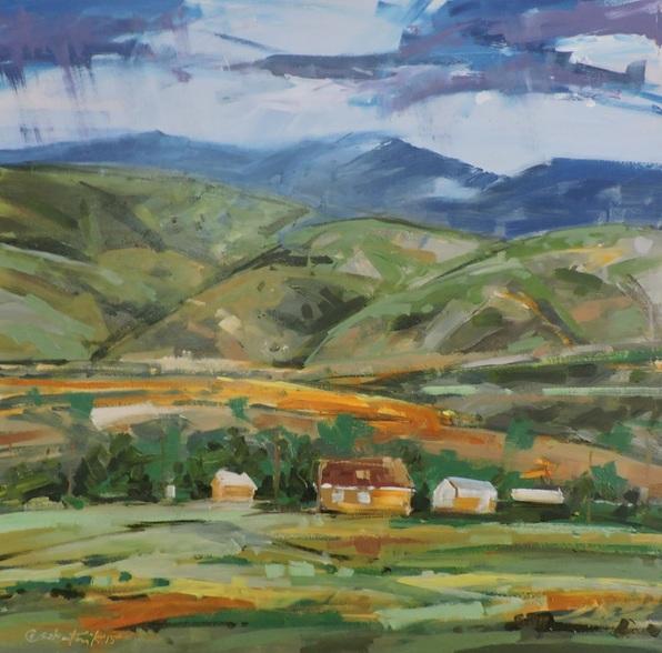 Richard Szkutnik - Storm over Tesuque Village