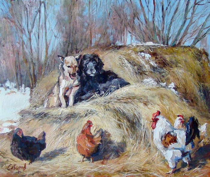 Ruslan Sabiroff - Dogs on the Hay