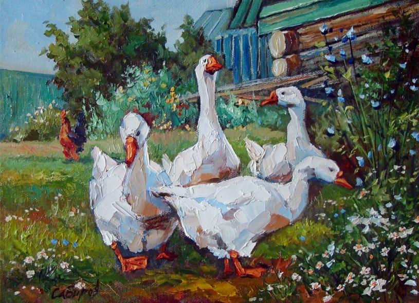 Ruslan Sabiroff - Geese in Shali village