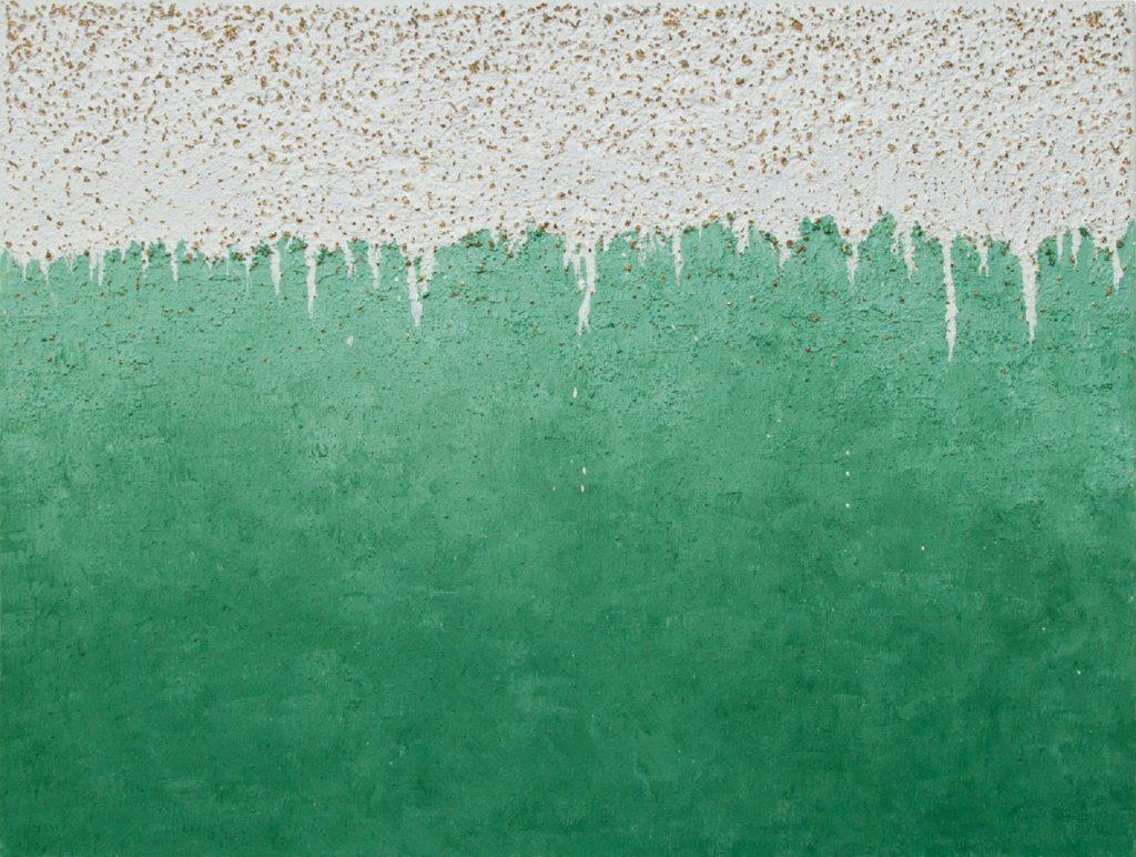 Yullia Ustymenko - Green mind. Abstraction. Large oil painting.