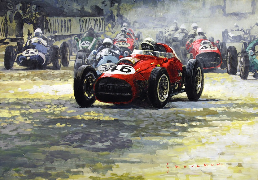 Yuriy Shevchuk - 1959 Monaco Gp #46 Ferrari D246 Jean Behra