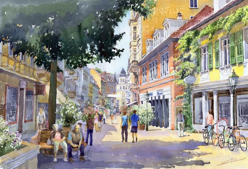 Yuriy Shevchuk - Germany Baden-Baden Lange Strasse