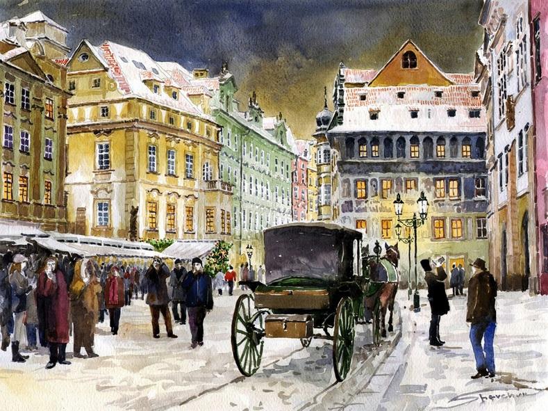 Yuriy Shevchuk - Prague Old Town Square Winter