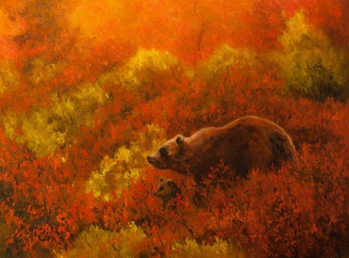 Dan Twitchell, OPA, AIS - Autumn Denali Bears