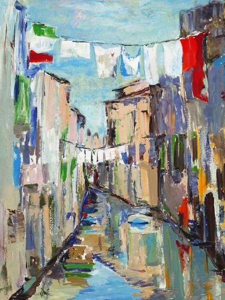 Daria Bagrintseva - Canal, Venice