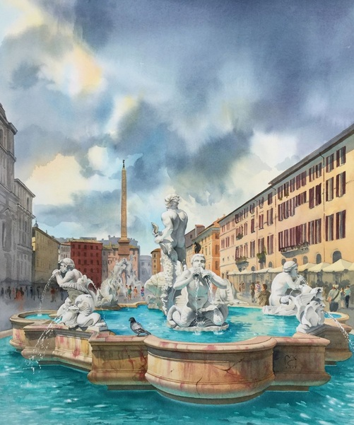 Eleanor Mill - Azure luster. Piazza Navona