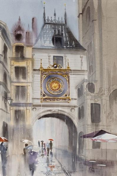 Eleanor Mill - Rain falls. Rouen, France