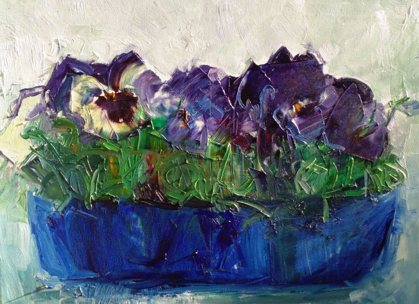 Lilia Orlova-Holmes - Conversation with pansies