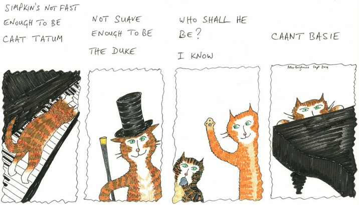 Peter Brighouse - Mungo and Tabbo arrange a pianist for their Cat Jazz Band