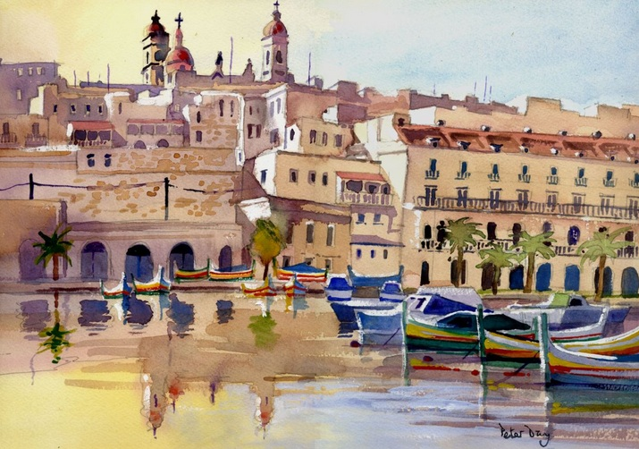 Peter Day - Malta, Senglea from Vittoriosa