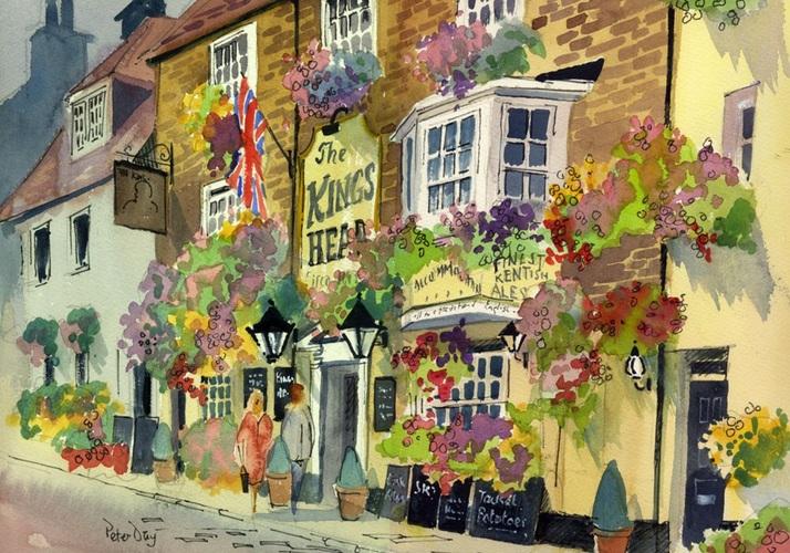 Peter Day - Petunias Galore, Kings Head Pub, Deal, Kent