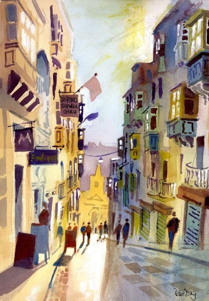 Peter Day - St Lucia St, Valletta, Malta