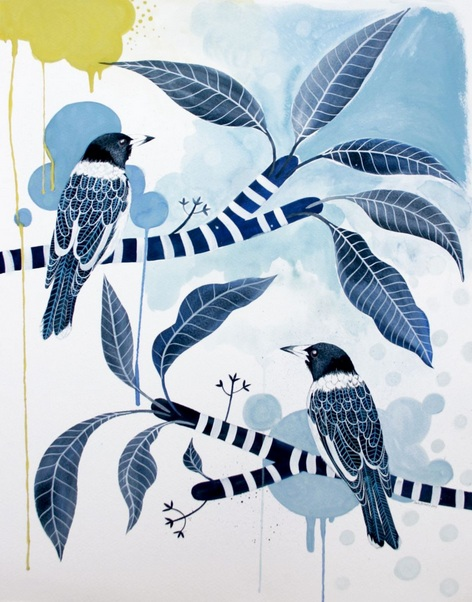 Sally Browne - Urban Butcher Birds & Frangipani