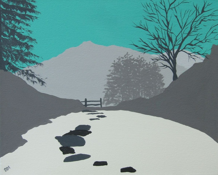 Sam Martin - A view from Rydal Cave, The Lake District
