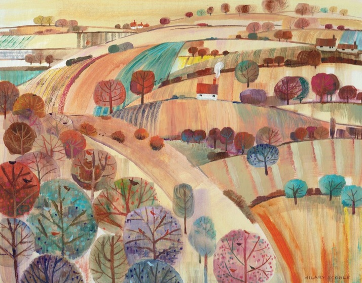 Hilary Scoble - Autumn Hillside