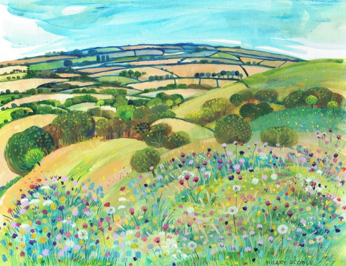 Hilary Scoble - Wild Flowers on Wye Downs