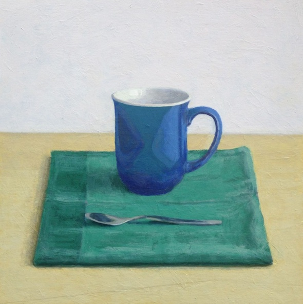 Hugo Lines - Blue mug and spoon