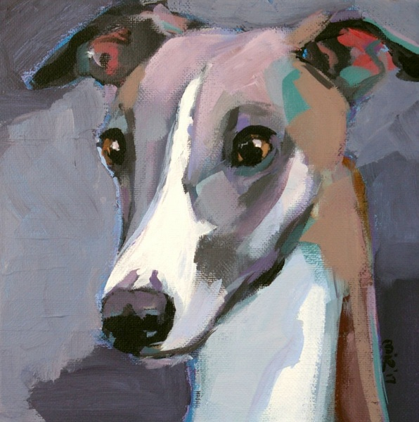 Malgorzata Miroslaw - Whippet 2- The Pop Art Dog