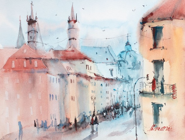 Marina Abramova - Würzburg. Old town