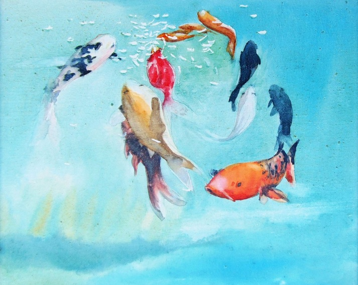 Marina Kulik - Circle of Koi Carps