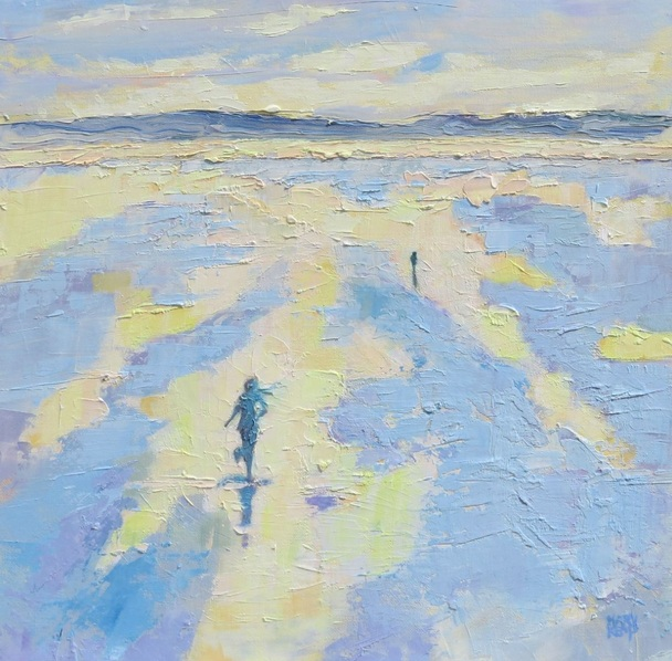 Mary Kemp - Running Forever. Freedom. Impressionist Seascape.
