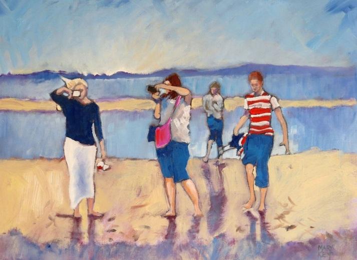 Mary Kemp - Taking Photos. Family at the Seaside.