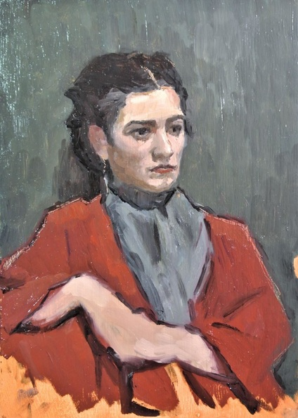 Niklas Elgmo - Young Lady in Red