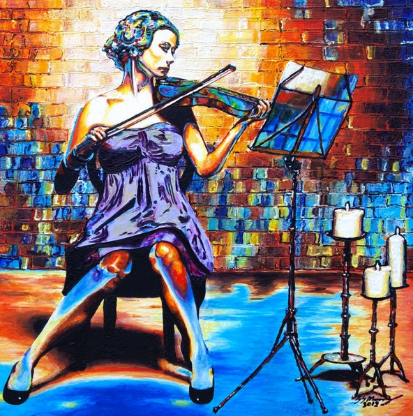 Stuart S Murray - The Colours of Music. The Violinist