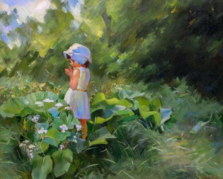 Vasyl Khodakivskyi - Into garden