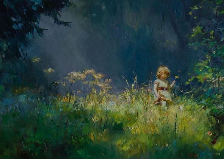 Vasyl Khodakivskyi - Walk in the woods