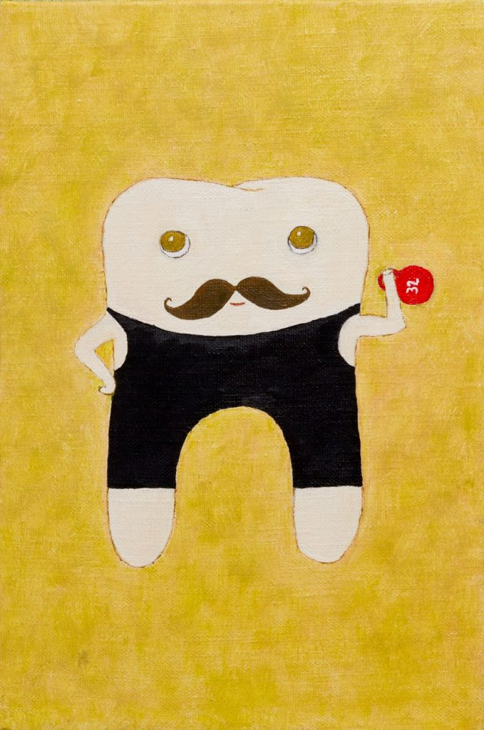 Yuliia Ustymenko - Sturdy molar. Oil painting