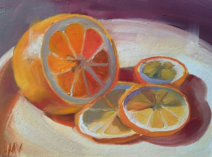 Mag Verkhovets - Citrus on plate