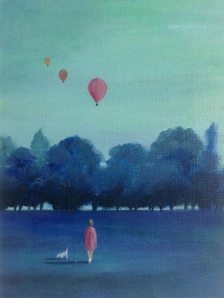 Sarah Gill - The balloon race at dawn