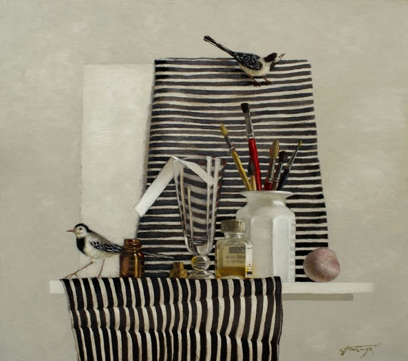 Tatyana Palchuk - Still Life with Wagtails