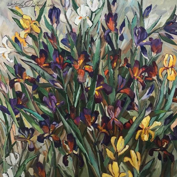 Vitaly Didenko - Irises in a Garden