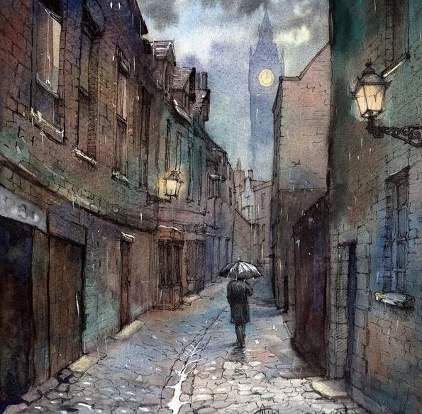 Anna Tikhomirova - Old London Street