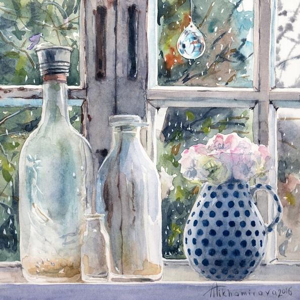 Anna Tikhomirova - Rainy Window