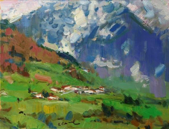 Eugene Segal - Alpine landscape