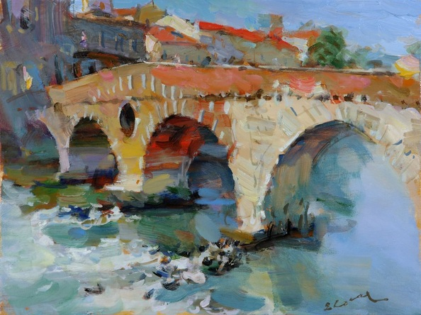 Eugene Segal - The stone bridge ,Verona