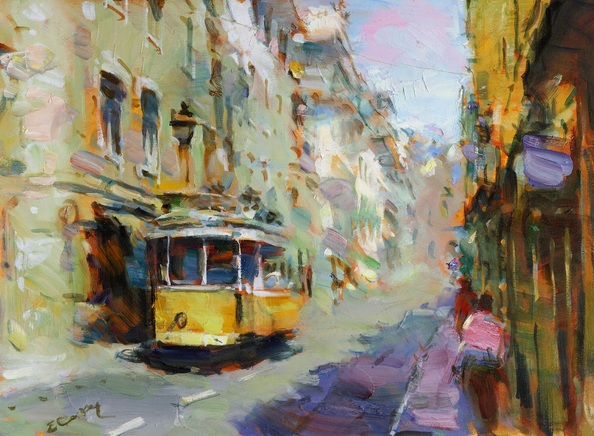 Eugene Segal - Yellow Lisbon tram