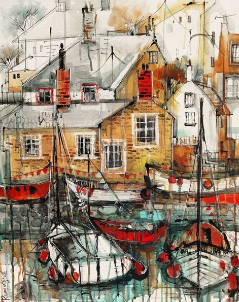 Irina Rumyantseva - Mousehole Harbour